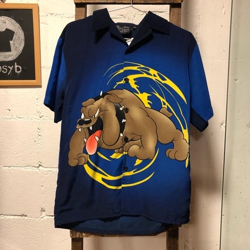 MECCA blue bulldog shirt