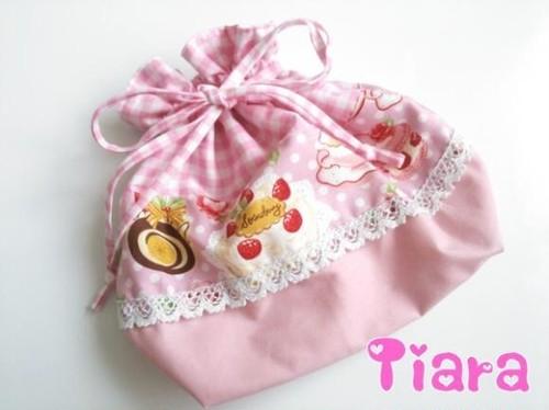 お弁当袋♡スイーツ柄ピンク