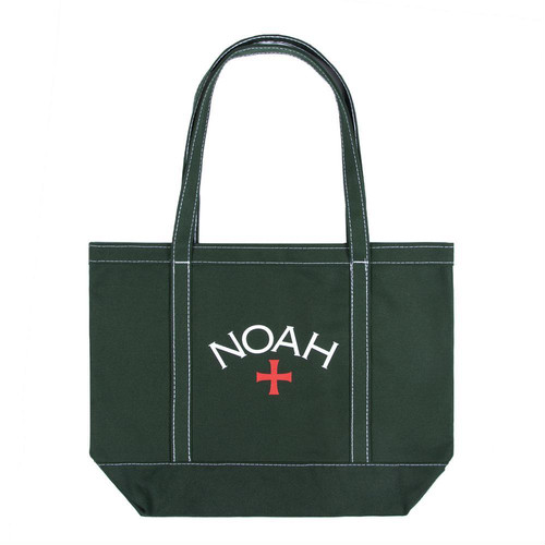 Contrast Stitch Tote(Hunter Green)