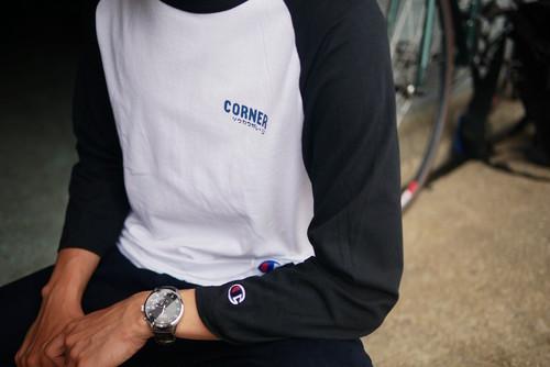 CORNER/ソウカワガレージ 7分袖ラグラン