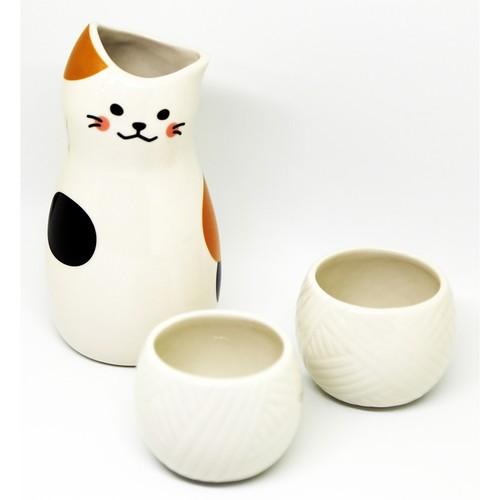 猫とっくりおちょこ(三毛猫)