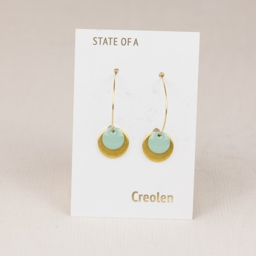 ◇STATE OF A◇ Earring Creole Simple Circle Enamel (Item No. 11069)