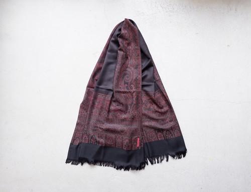YANTOR Tibetan Paisley Jacquard Wool Stole (RED / size:FREE)