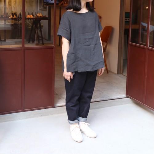 YAECA/ヤエカ ラップブラウス S/S CHARCOAL #99120 レディース