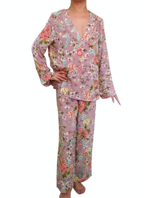 Pajama set up Oriental Garden パジャマセットアップ オリエンタルガーデン