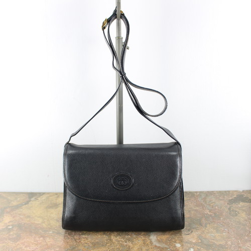 .OLD GUCCI LEATHER SHOULDER BAG MADE IN ITALY/オールドグッチGG柄型押しレザーショルダーバッグ 2000000044576