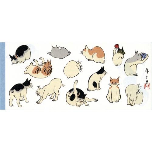 猫一筆箋(歌川広重浮世画譜猫)2柄30枚
