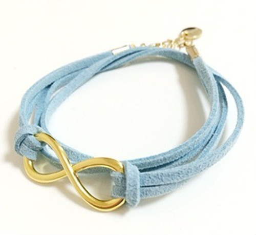 ∞bracelet GOLD×MILKYBLUE