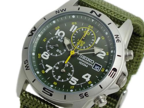 セイコー SEIKO クロノグラフ メンズ 腕時計 SND377R グリーン グリーン