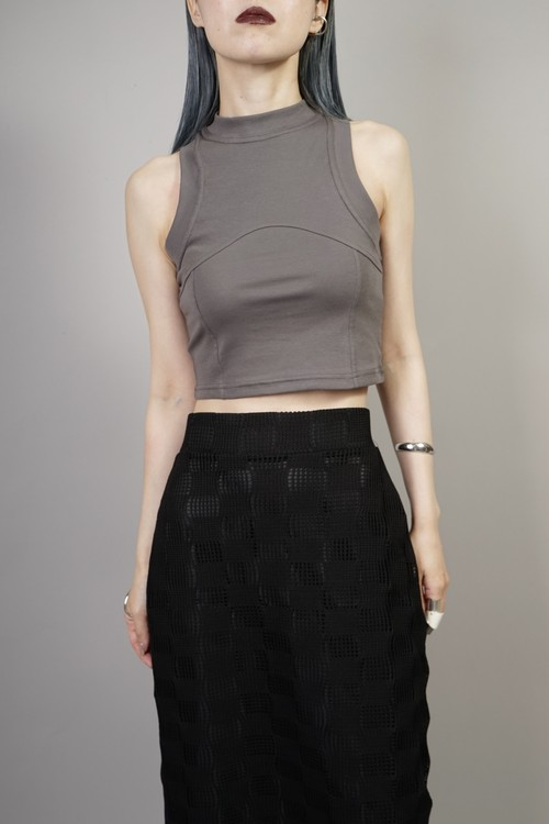 SWITCHING CROPPED TANK TOP  (GRAY) 2106-70-70