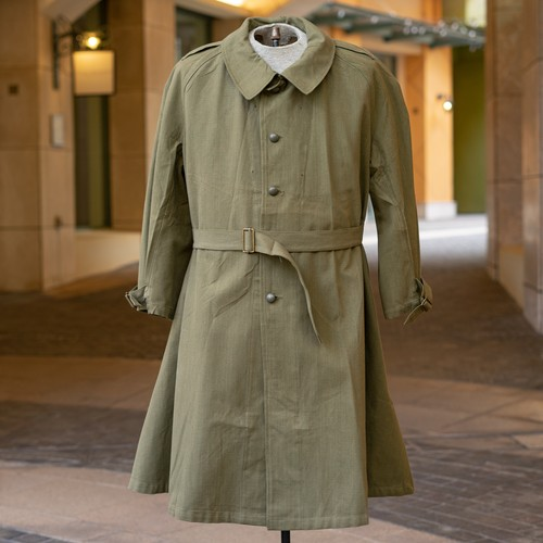 50's FRENCH ARMY MOTORCYCLE  COAT DEADSTOCK - 3