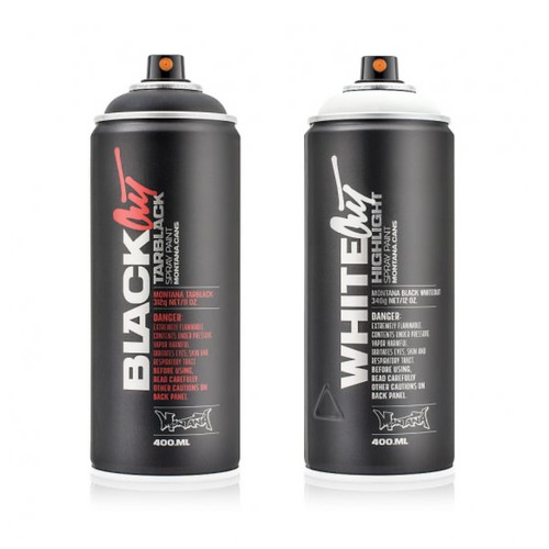 MONTANA CANS BLACK OUT & WHITE OUT