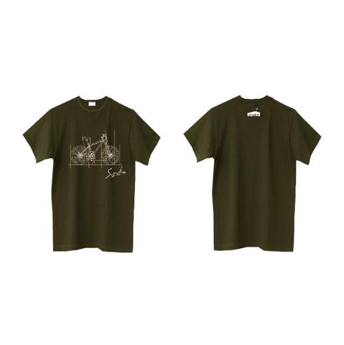 sumika / 自転車Tシャツ(オリーブ)