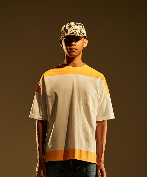 Product Print Wide Tee -orange <LSD-BJ1T6>