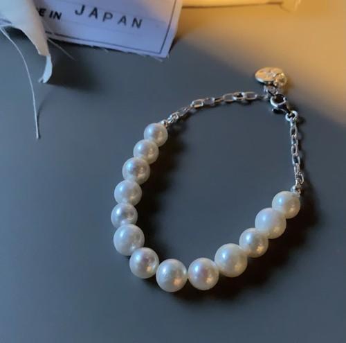SEAN NISH NP13 pearl × silver bracelet