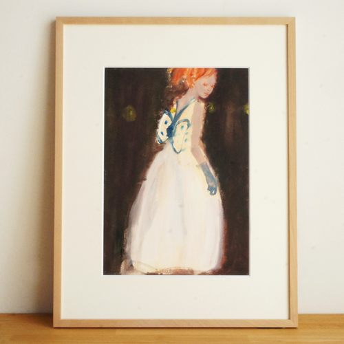 「青い蝶」日端奈奈子(hibata nanako)イラスト原画