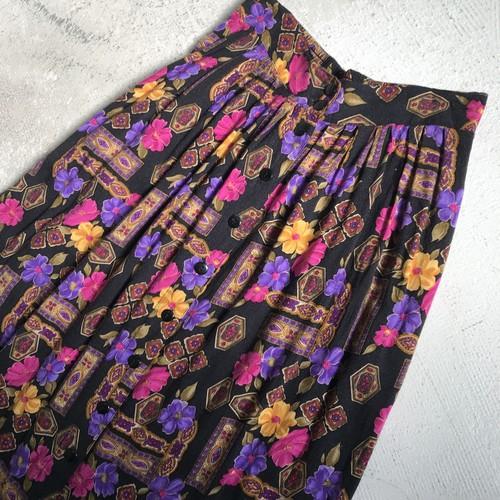ボタニカル スカート フラワー 花柄 ヴィンテージ USA