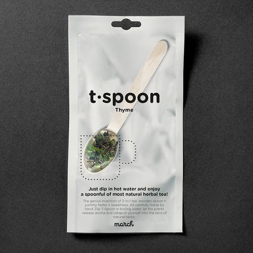 march(マーチ) T-SPOON ハーブティー タイム 1本入り TSPOON ティースプーン アウトドア BBQ 用品 キャンプ グッズ 持ち運び 軽量 お茶 登山 プレゼント ナチュラル
