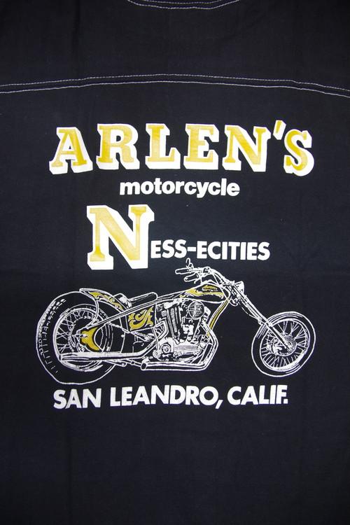 80's sportswear GULF COAST ARLEN'S NESS Harley-Davidson Football T-Shirts(黒)