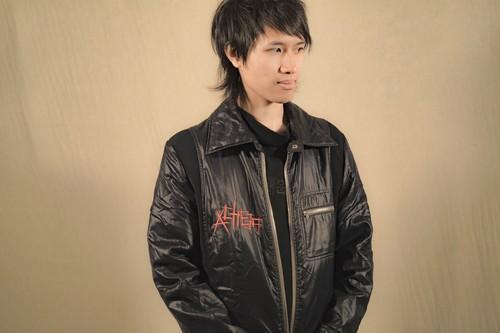 『scratch』fake leather jacket