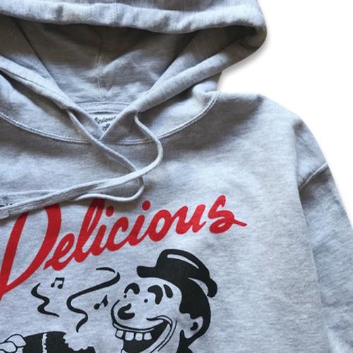 Delicious Vinyl / Classic Logo Hoody Gray