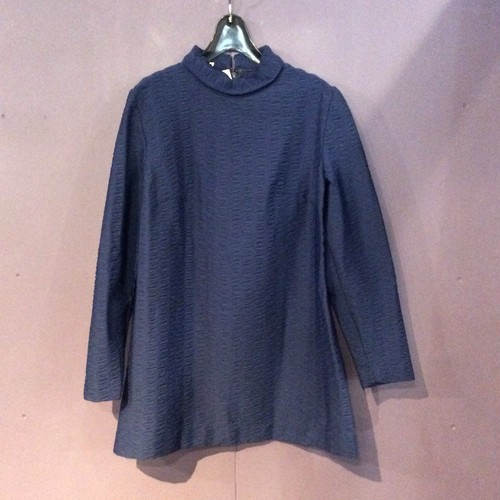 70's blue design tops [B1256]