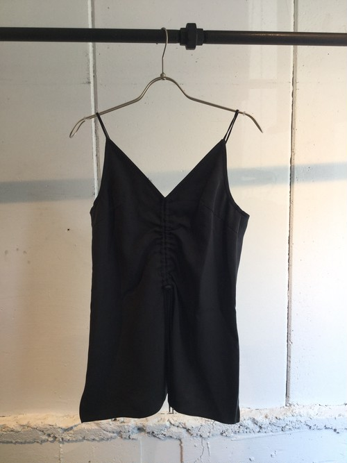 GVGV   DRAWSTRING CAMI TOP (BLACK)