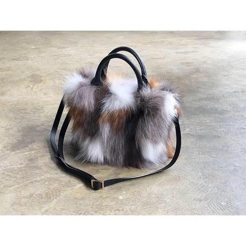 VIOLAd'ORO(ヴィオラドーロ) 『VOLPE』Fox Fur 2Way Tote&Shoulder Bag