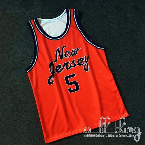 「NBA」ニュージャージー ネッツ 1982-84シーズン 復刻ジャージ ジェイソンキッド 手作り ユニフォーム