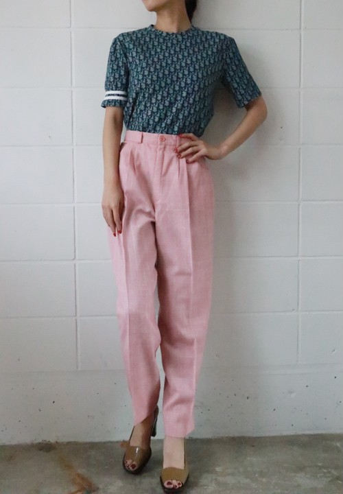 Pink checked pants