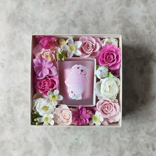 【予約受付中】フラワーギフトボックスS(ピンク)
