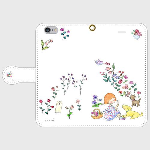 flower garden 手帳型スマホケース iPhone6/6s
