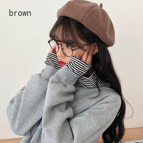 【お取り寄せ商品】シンプルカラーベレー帽 8133