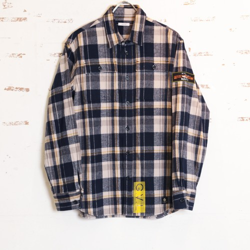 COTTON FLANNEL SHIRTS (NV CHK) / GAVIAL