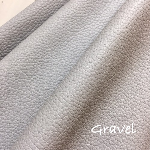 ☆再入荷☆カルトナージュ用イタリア製本革 36cm×36cm  Gravel(ごくごく薄いグレー)