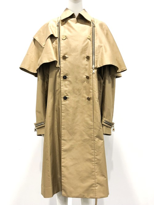 Docking Cape Trench Coat (Beige)