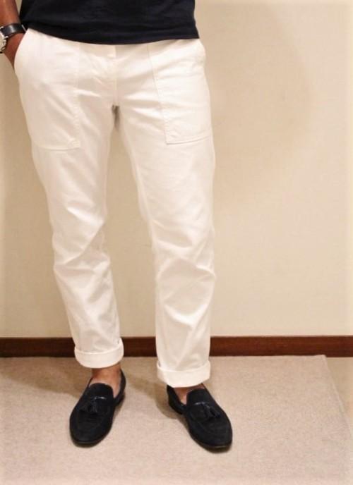FOB FACTORY Baker Pants White