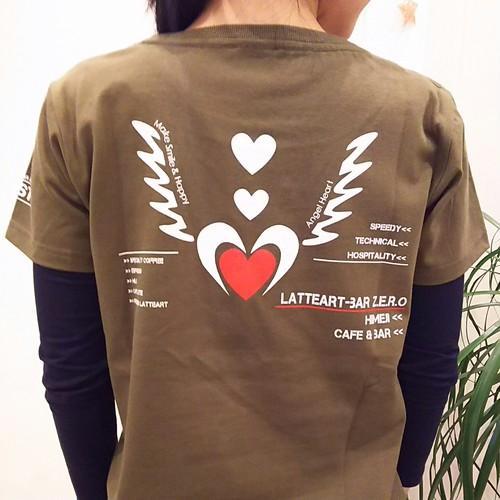 【Z.E.R.O_オリジナルTシャツ・オリーブ】[Angel Heart-デザイン]