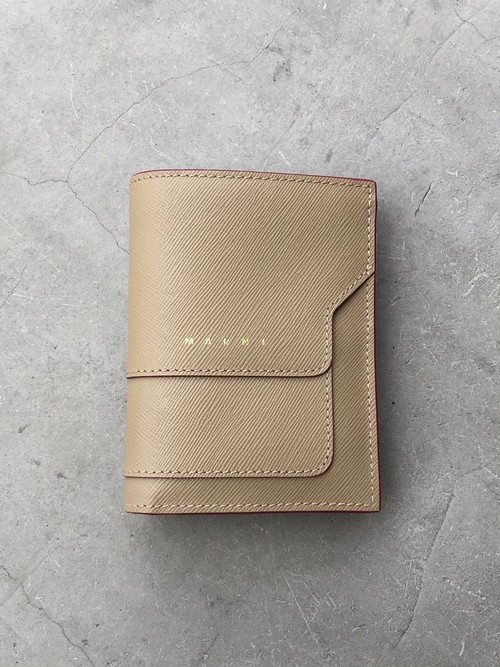 【20AW】MARNI マルニ / Saffiano leather bifold wallet