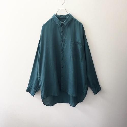 CITY STREETS シルクシャツ グリーン系 size XL メンズ 古着