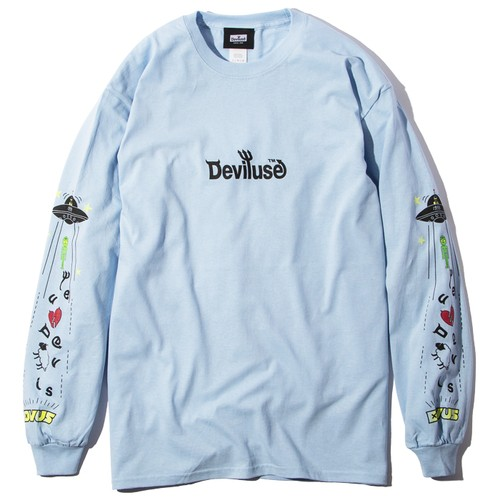 Deviluse(デビルユース) | UFO L/S T-shirts(Light Blue)