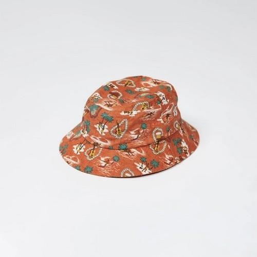 LITE YEAR Hawaiian Bucket Hat - Pimento