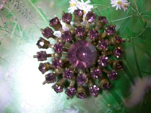 紫ラインストーン