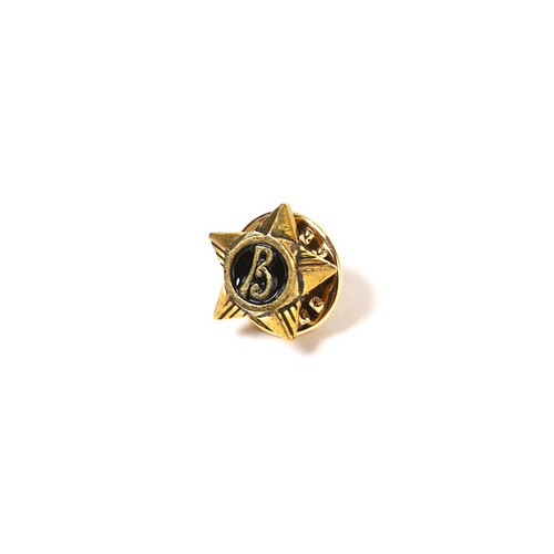 "RUDE GALLERY BLACK REBEL STAR PINS ""B"" <CHAOS DESIGN COLLABORATION>"