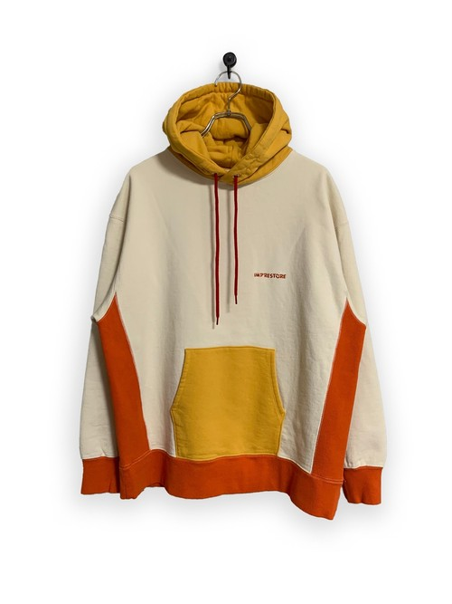 Original Hooded Sweatshirt / 3tone /white×yellow×orange
