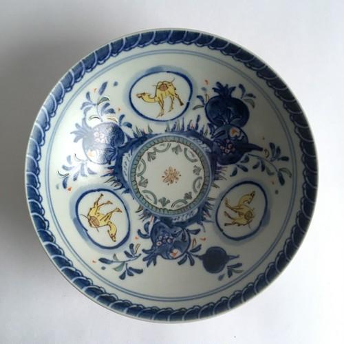 染錦ザクロ駱駝文鉢