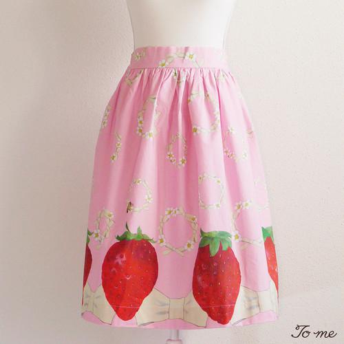 ストロベリーリングスカート ピンク