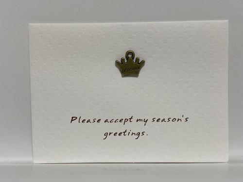 メッセージカード 「Please accept my season's greetings」