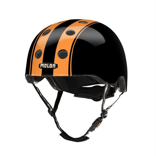 【メロンヘルメット】ダブル オレンジ ブラック