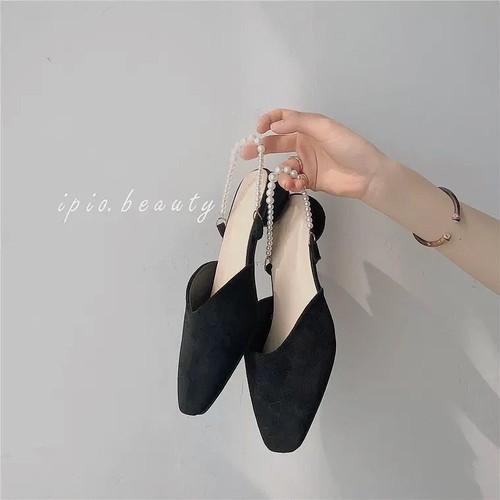 pearl belt shoes